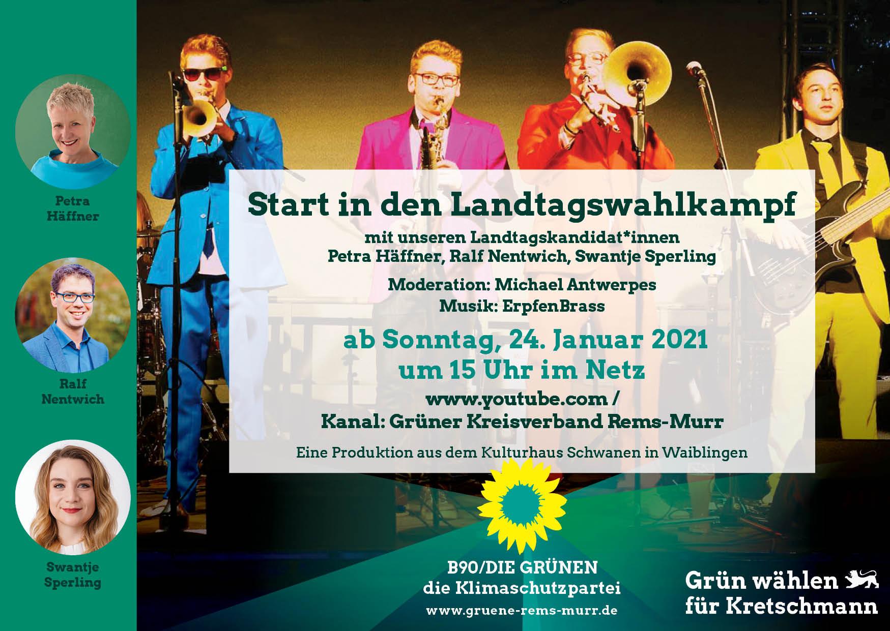 Offizieller Start in den Landtagswahlkampf 2021 – Kandidat:innen-Vorstellung