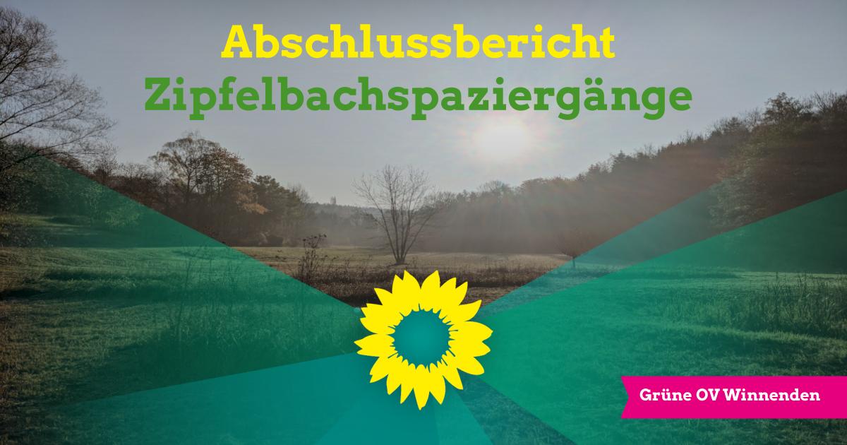 Abschlussbericht Zipfelbachspaziergänge