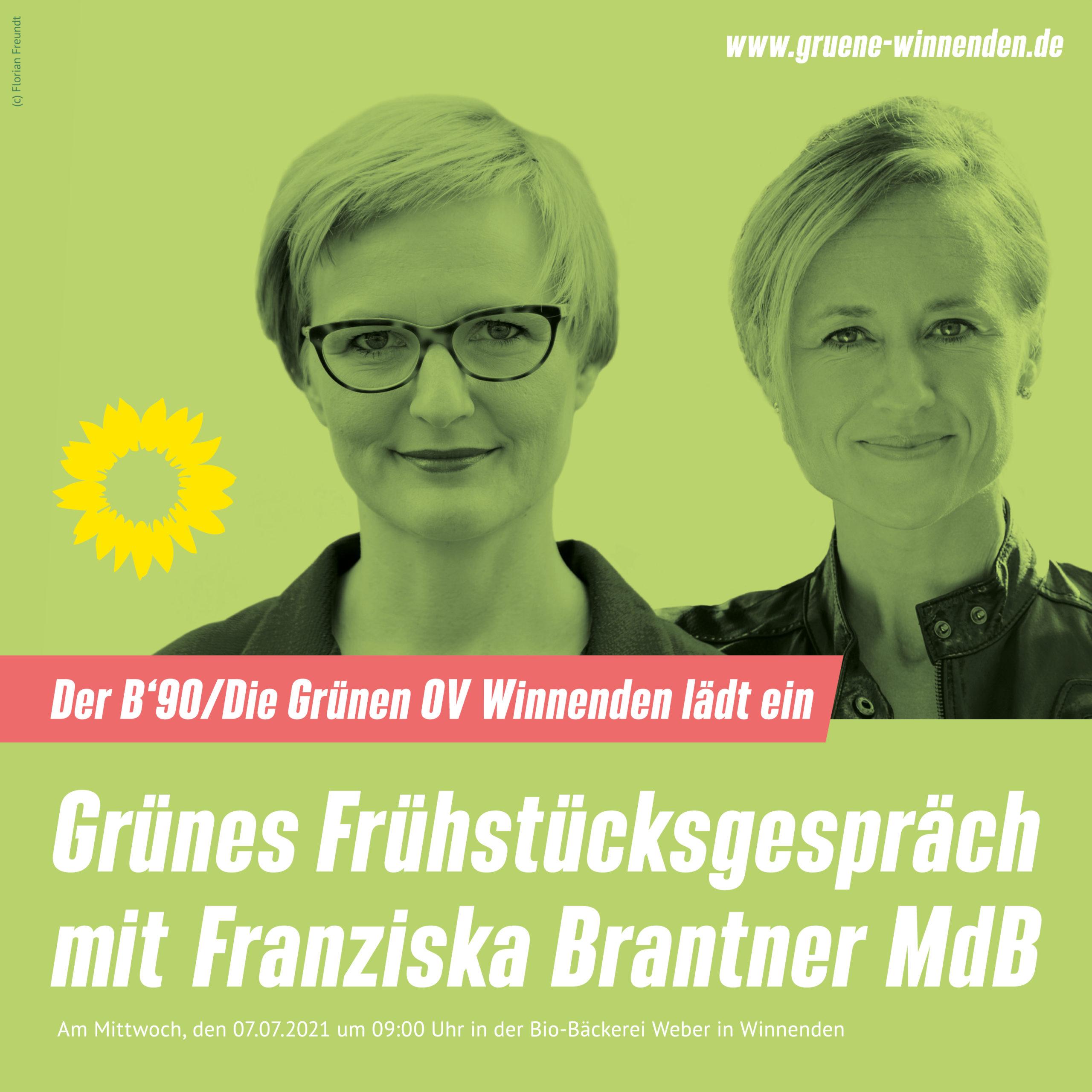Grünes Frühstücksgespräch mit  Franziska Brantner MdB